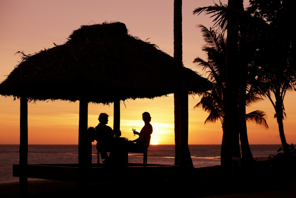 Romance at sunset at Fiji | Courtesy of Intercontinental Fiji Golf Resort & Spa