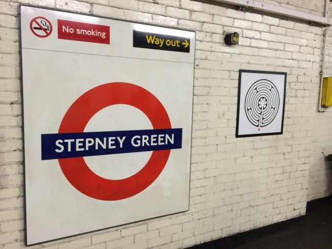 The Stepney Green tube sign