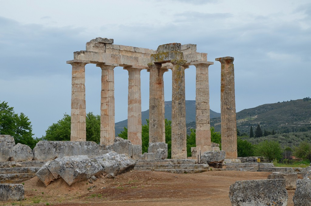 Temple of Zeus, constructed during the last third of the 4th century B.C. (ca . 330), Nemea   © Carole Raddato/Flickr