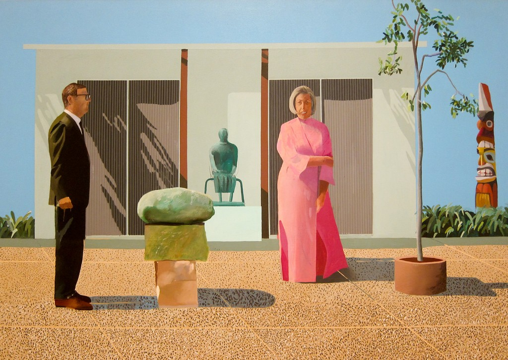 David Hockney, American Collectors (Fred and Marcia Weisman), 1968
