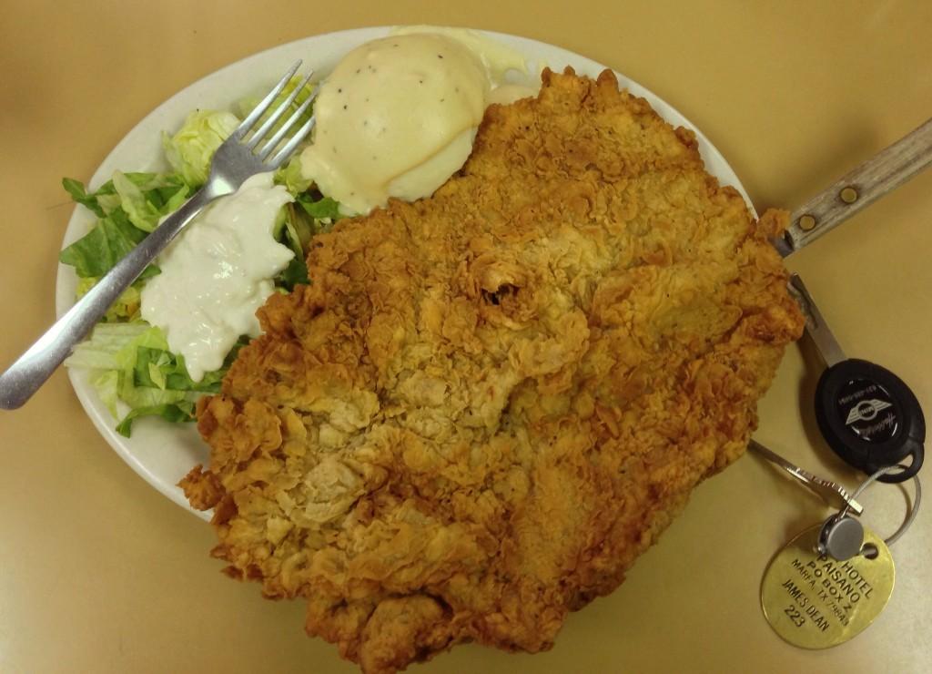 Chicken Fried Steak at Tip Top Cafe in San Antonio © H. Michael Karshis
