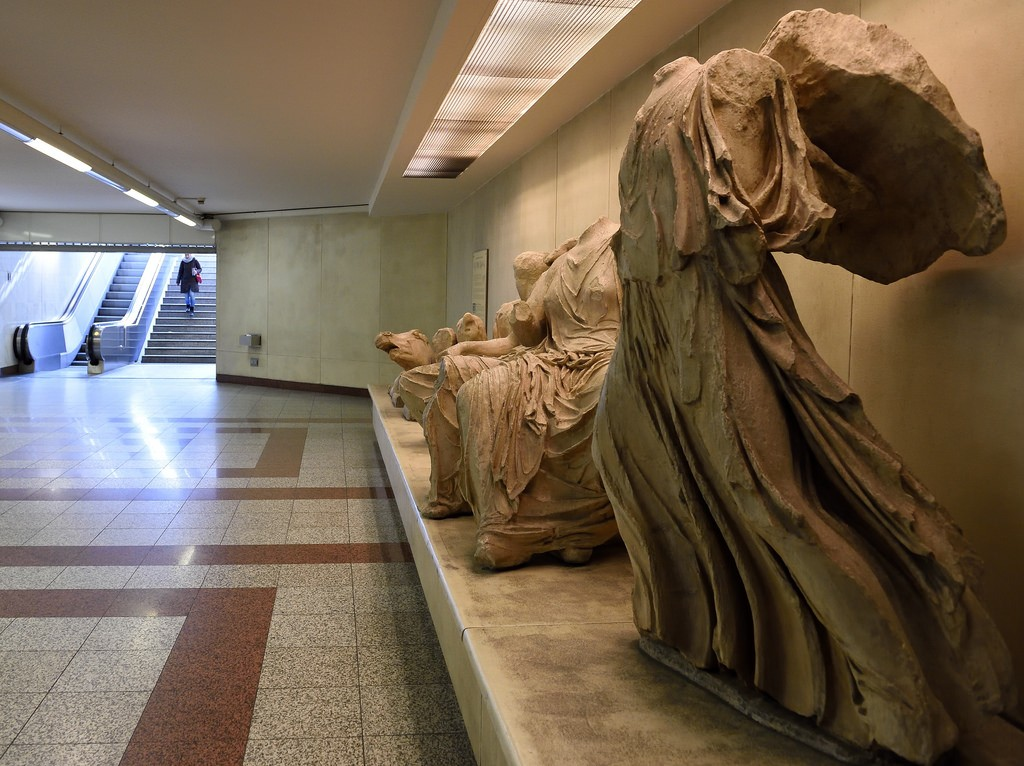 Entrance to Acropolis metro station in Athens, Greece | © Tim Adams/Flickr