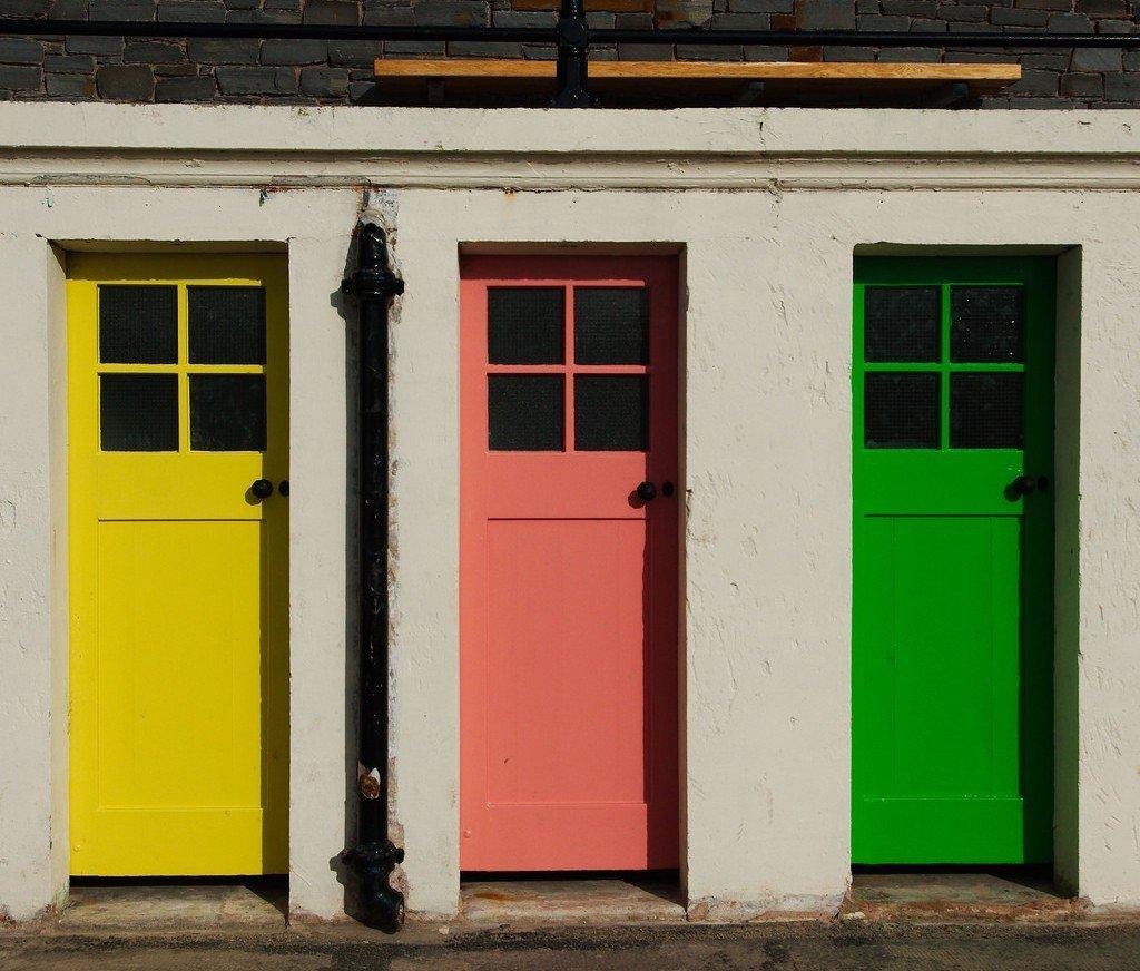 Doors At North Berwick Harbor   © Magnus Hagdorn/Flickr