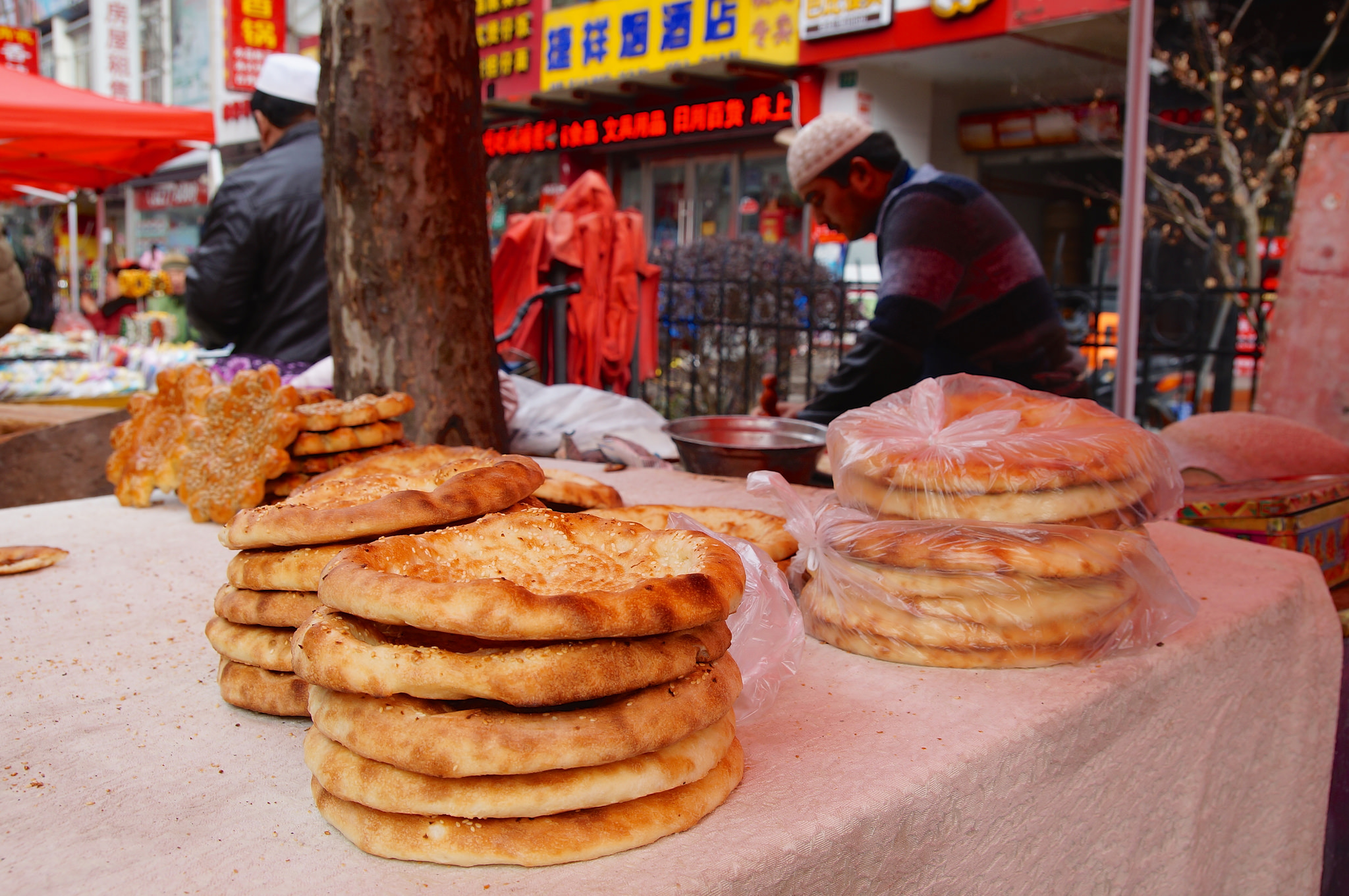 Naan at the Shanghai Muslim Market | ©Mathias Apitz/Flickr