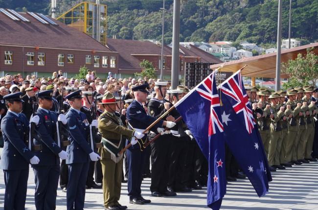New Zealand and Australian Flags | © Manatu Taonga/Flickr