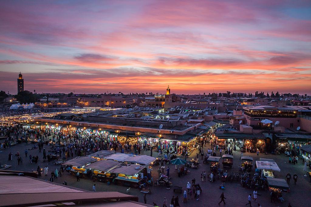 Djena el Fna in in Marrakech | © Tom Godber/Flickr