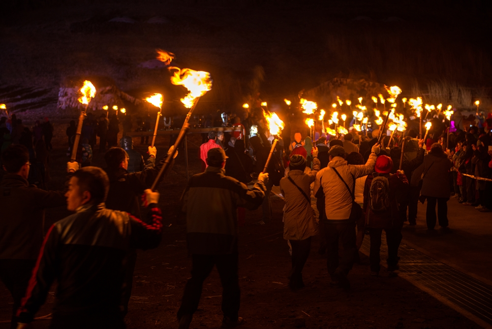 Torch marching for good fortune | © Jeju Tourism Organization