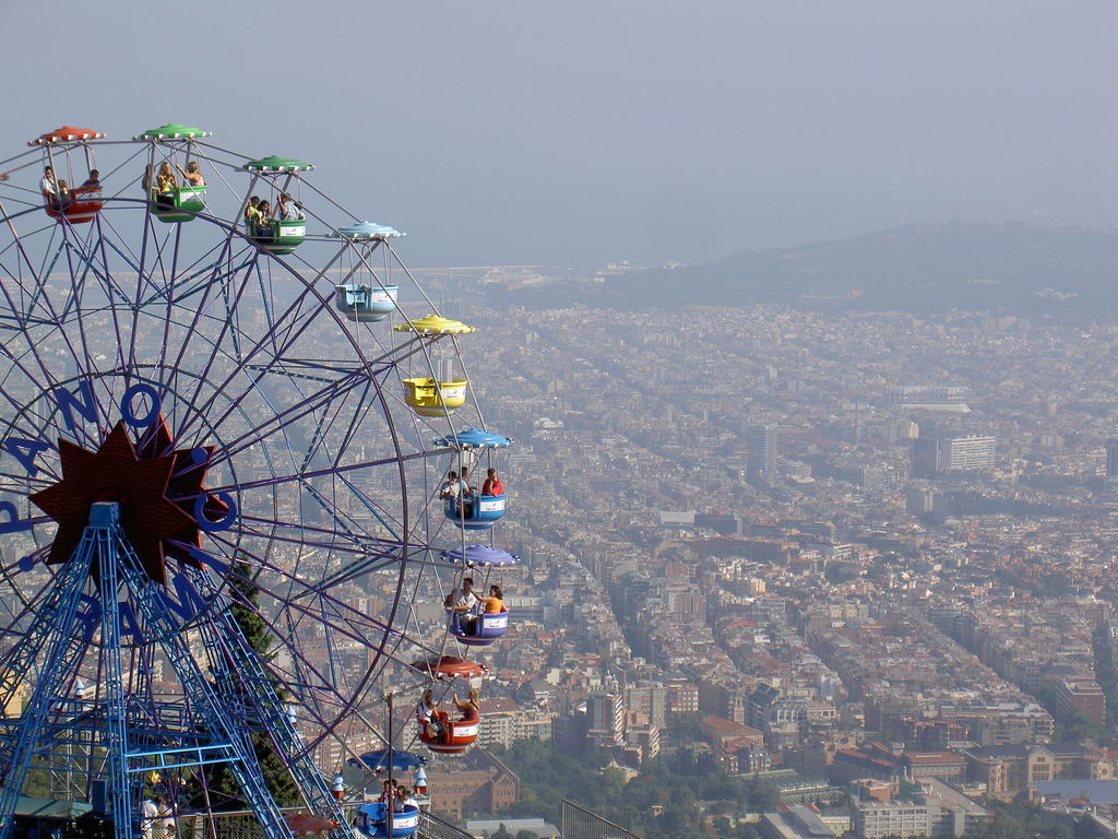 The view from Mount Tibidabo © stvcr