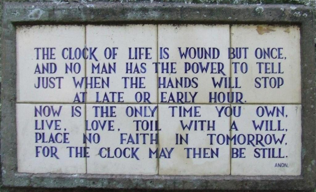 A poem beside a slave bell in the Gardens © Robert Cutts / Flicker