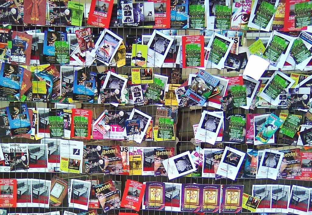 Wall Of Fliers   © Steve Greer/Flickr