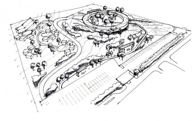 Architects sketch of Wangari Muta Maathai House | © Boogertman + Partners Architects
