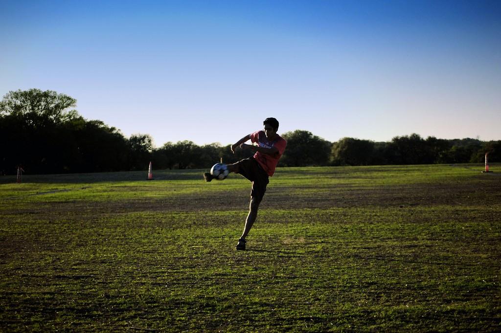 Soccer in Zilker Park © Prakash