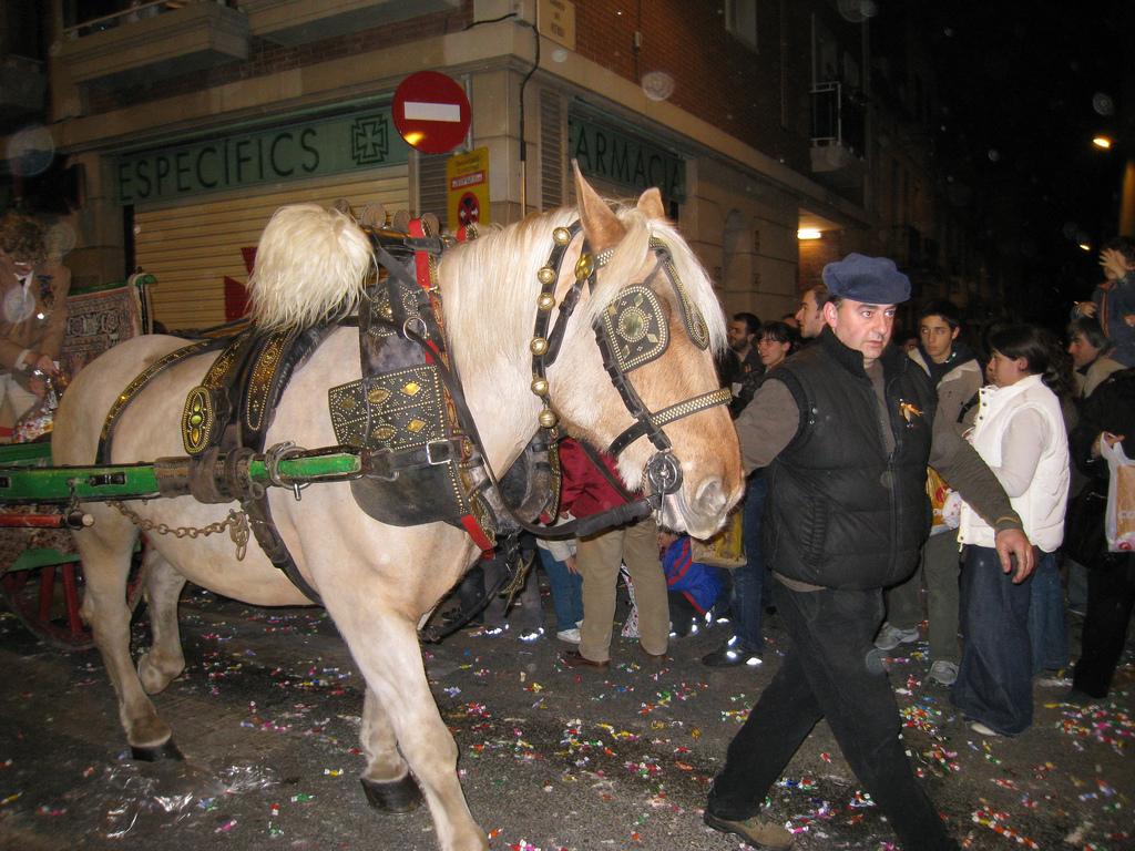 A horese and cart at the Festa de Sant Medir ©lin padgham