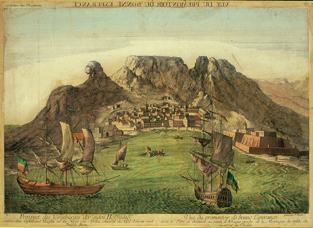 A colonial painting of the Cape of Good Hope c. 1780 © Iziko Museums of South Africa