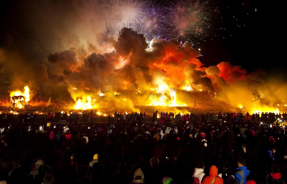 The burning of the daljip