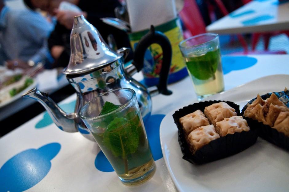 Moroccan tea at Comptoir Libanais