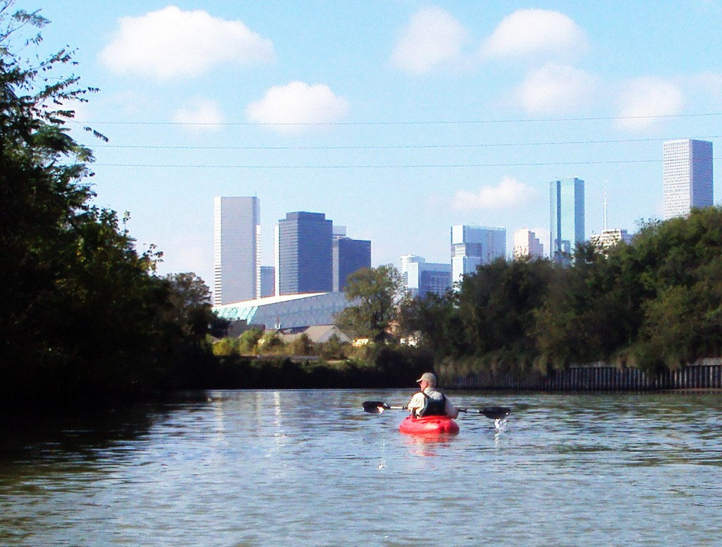 Houston skyline from Buffalo Bayou © Patrick Feller