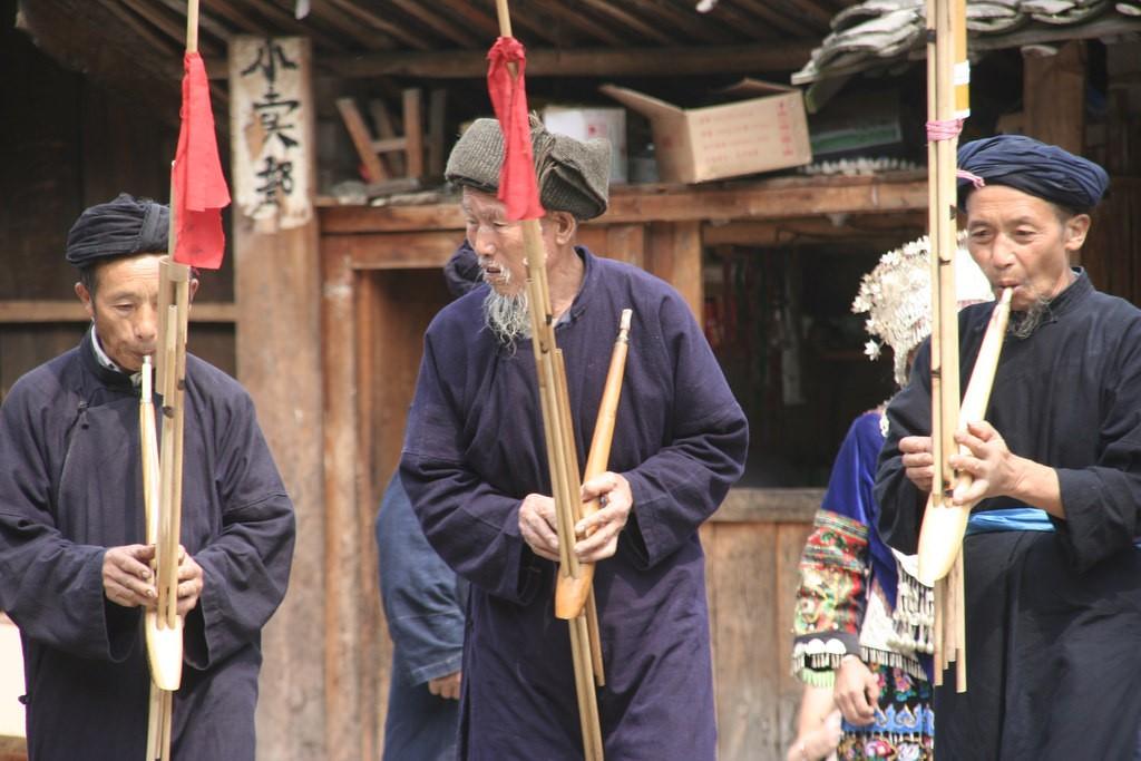 China Langde Lusheng Players| © Anja Disseldorp/Flickr
