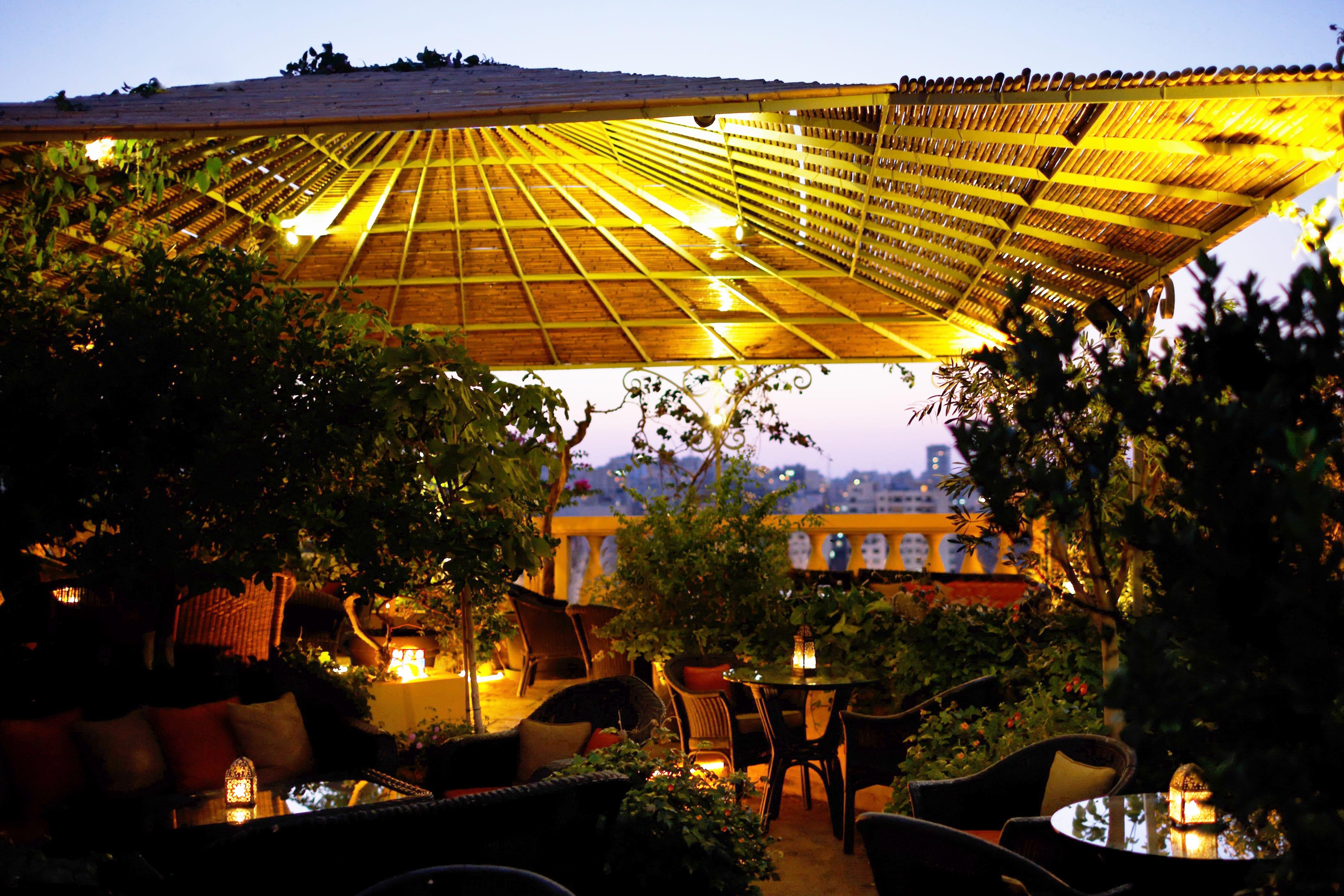 [Night Terrace, Albergo Hotel] | Courtesy of [Albergo Hotel]
