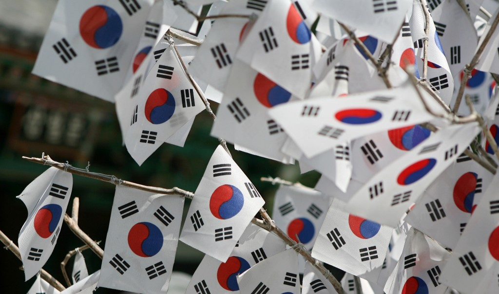 South Korean flags wave proudly on National Liberation Day of Korea | © KoreaNet / Flickr