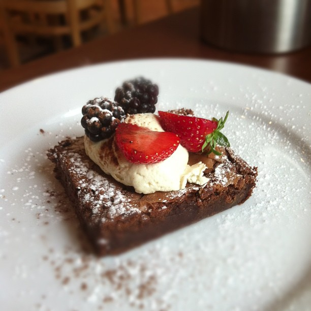 A brownie at Palmers
