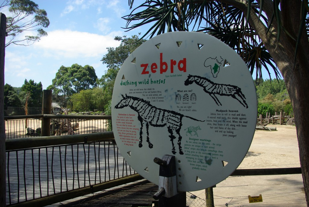 An educational sign at Auckland Zoo | © Samuel Mann/Flickr