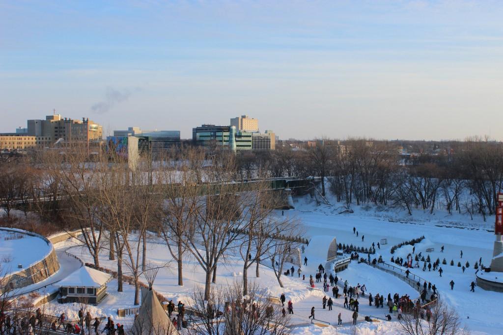 The frozen Assiniboine River | © Sajeewa Welendagoda / Flickr