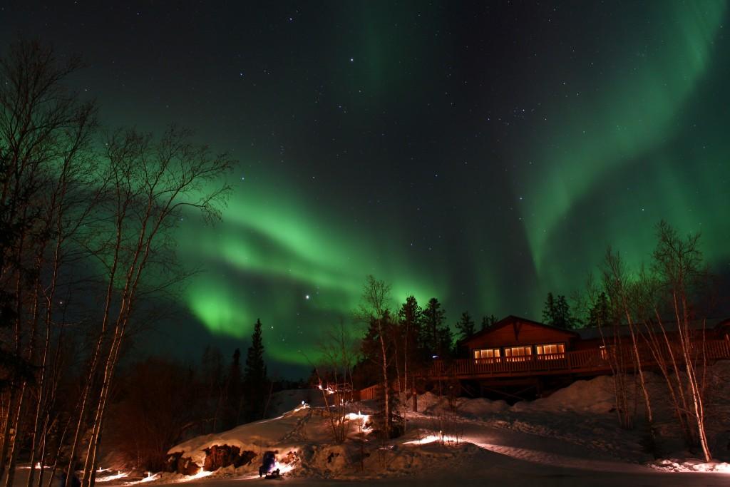 Northern Lights at Aurora Village, Yellowknife | © GoToVan/Flickr