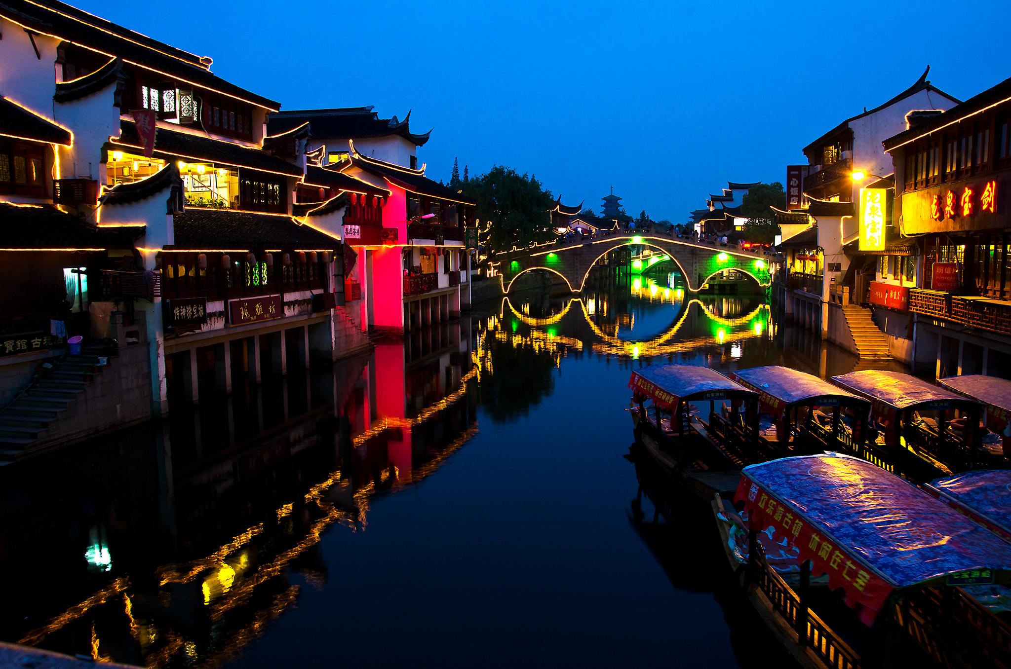 Qibao at Night | © Charles W Clark / Flickr