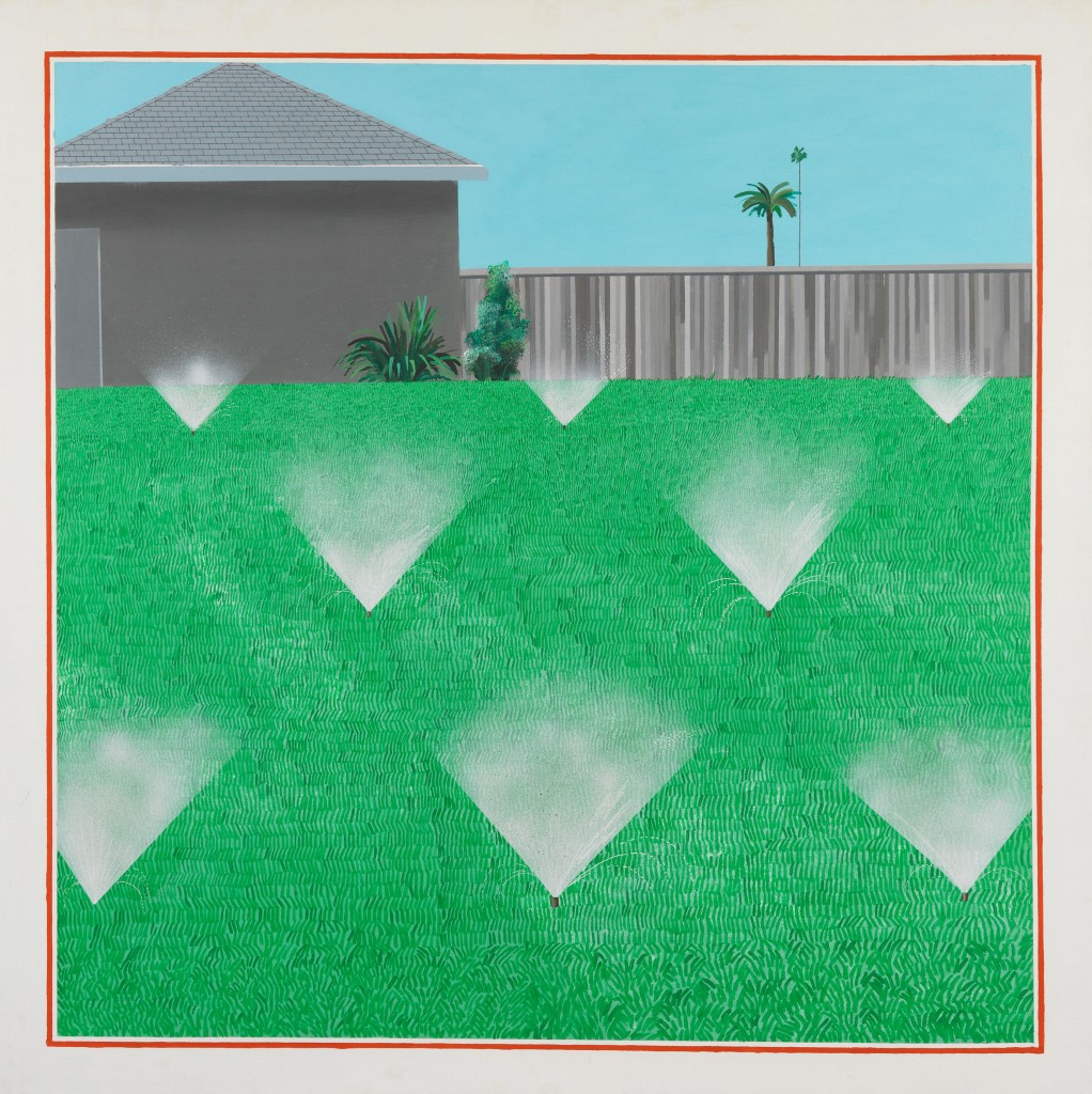 David Hockney, A Lawn Being Sprinkled, 1967. © David Hockney. Photo Credit: Richard Schmidt