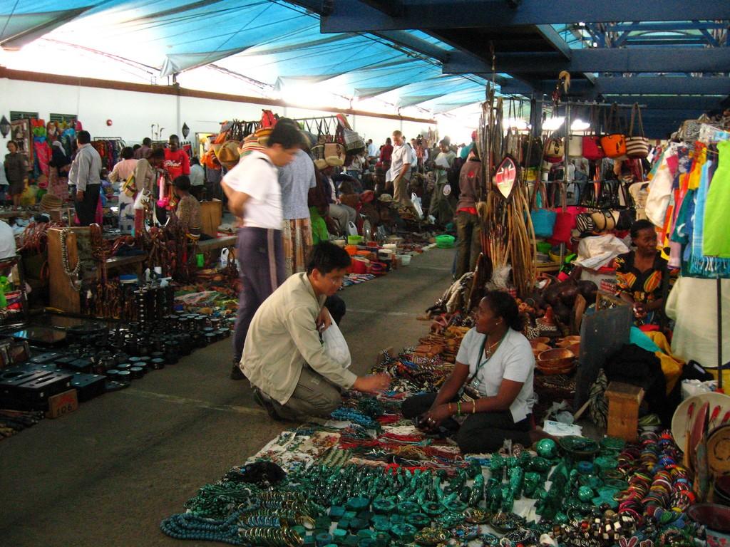 A shopper at a Maasai market   © Meaduva / Flickr
