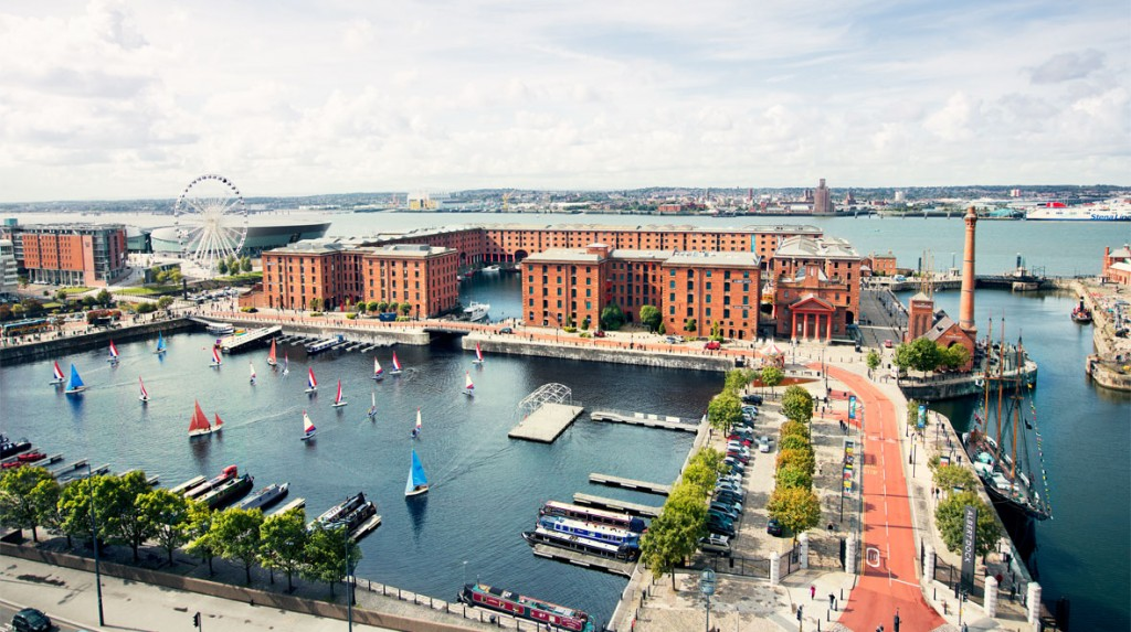 Bird's eye view of Albert Dock