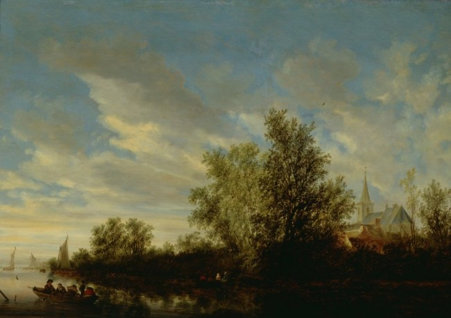 River Landscape with Figures in Boats and Church in the Distance (1644), Salomon van Ruysdael 1600/1603?-1670 | © National Museums Northern Ireland Collection Ulster Museum