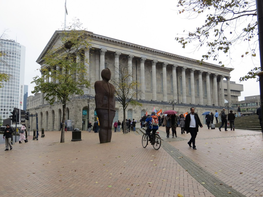 Birmingham's Iron Man statue