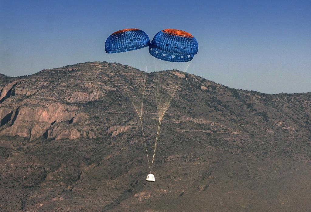 Blue Origin shuttle returns to earth | © Blue Origin