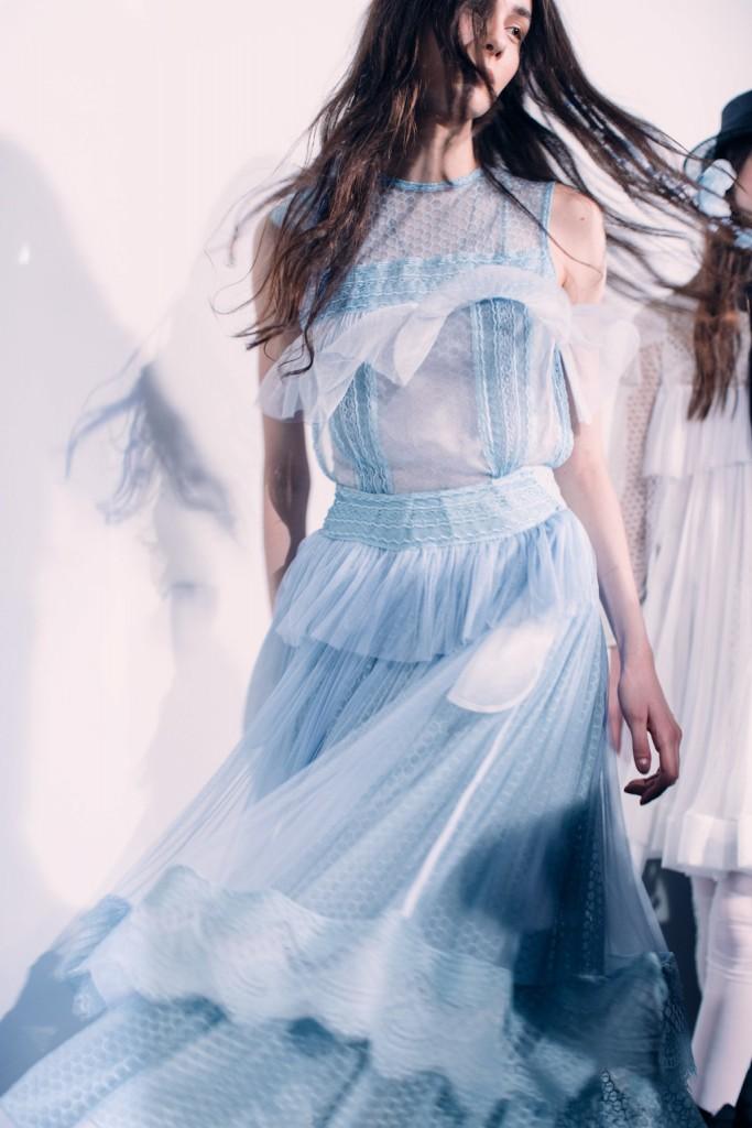 Bora Aksu AW17, Backstage | © British Fashion Council, Lillie Eiger