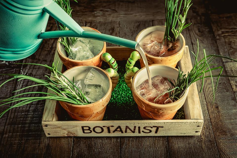 The Botanist's watering can cocktail