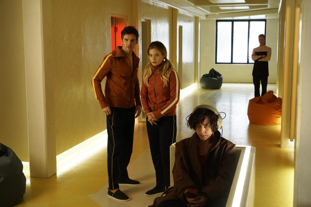 Dan Stevens as David Haller, Rachel Keller as Syd Barrett, Aubrey Plaza as Lenny 'Cornflakes' Busker | © Chris Large / FX