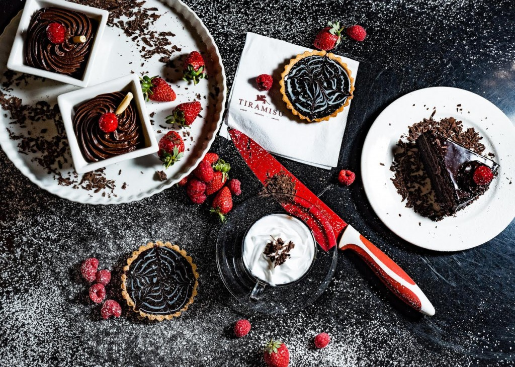 Chocolate fudge cake and strawberries | Courtesy of Tiramisu