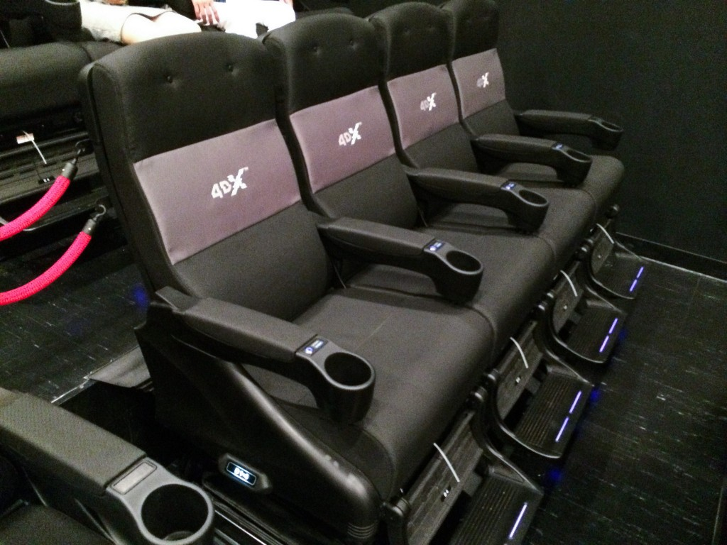 4DX chairs found in one of the cinema rooms at JK Iguatemi Shopping, SP ©Dick Thomas Johnson