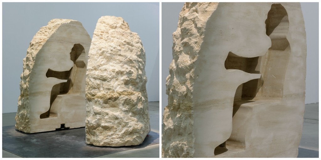 Closeups of the limestone boulder in which Abraham Pointcheval is encased │ Courtesy of Palais de Tokyo