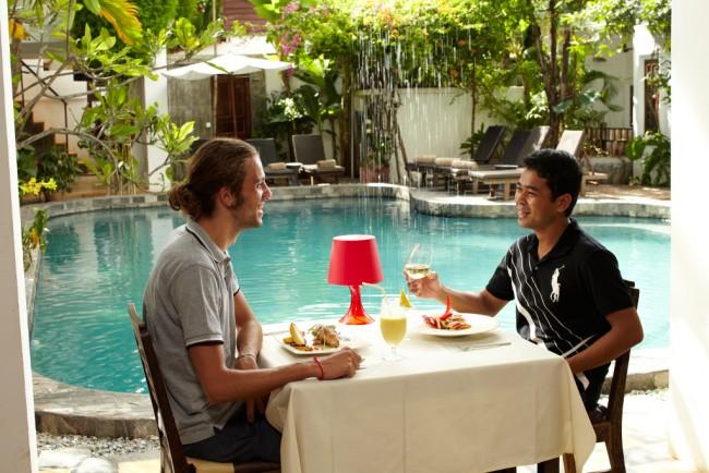 Diners enjoy a meal at Rambutan | Courtesy of Rambutan Siem Reap Resort