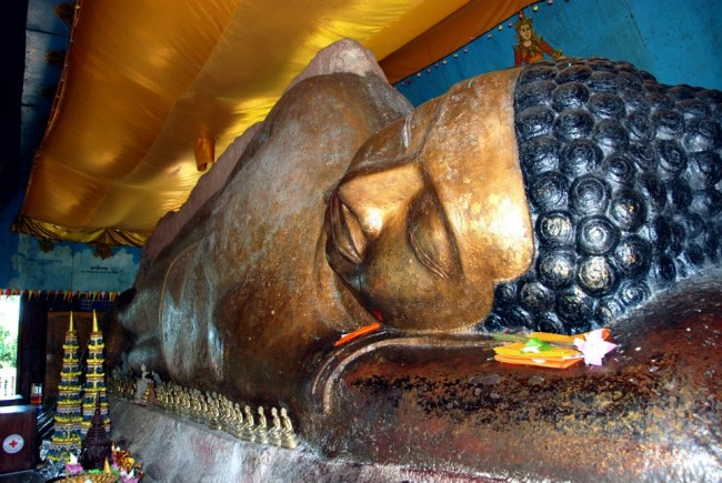 The reclining Buddha at Wat Preah Ang Thom © Marissa Carruthers