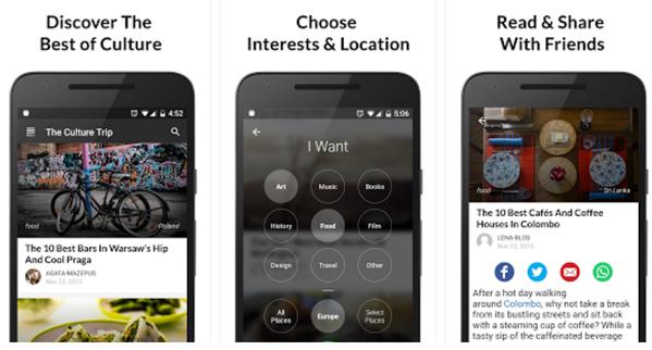 The Culture Trip App Courtesy of Culture Trip