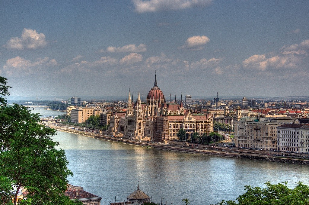 View over the Danube and Hungarian Parliament Building