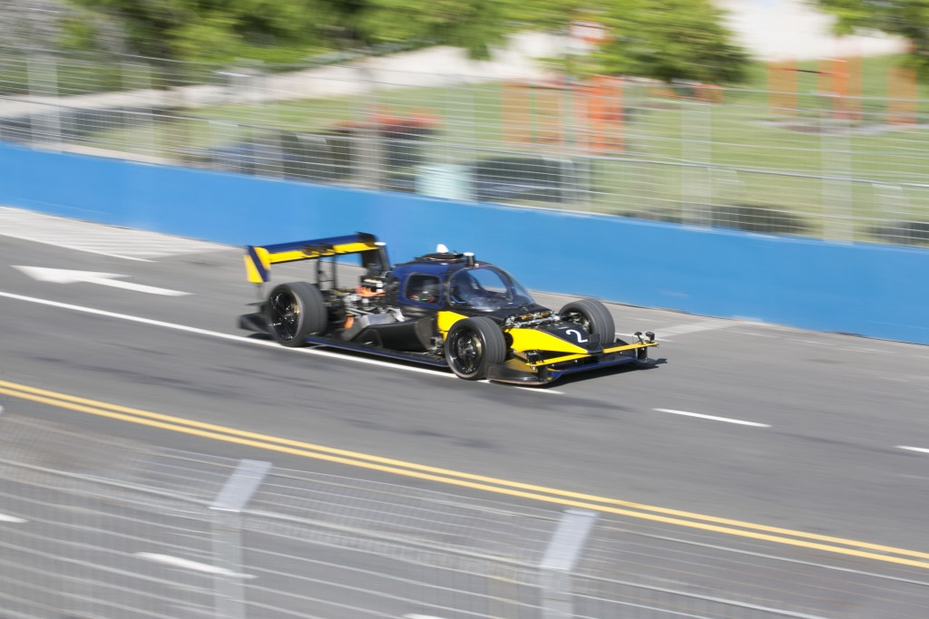 DevBot 2 racing. | Courtesy Roborace.