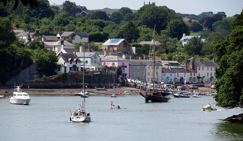 View of Dittisham from the Greenway Battery ©Becks/Wikimedia