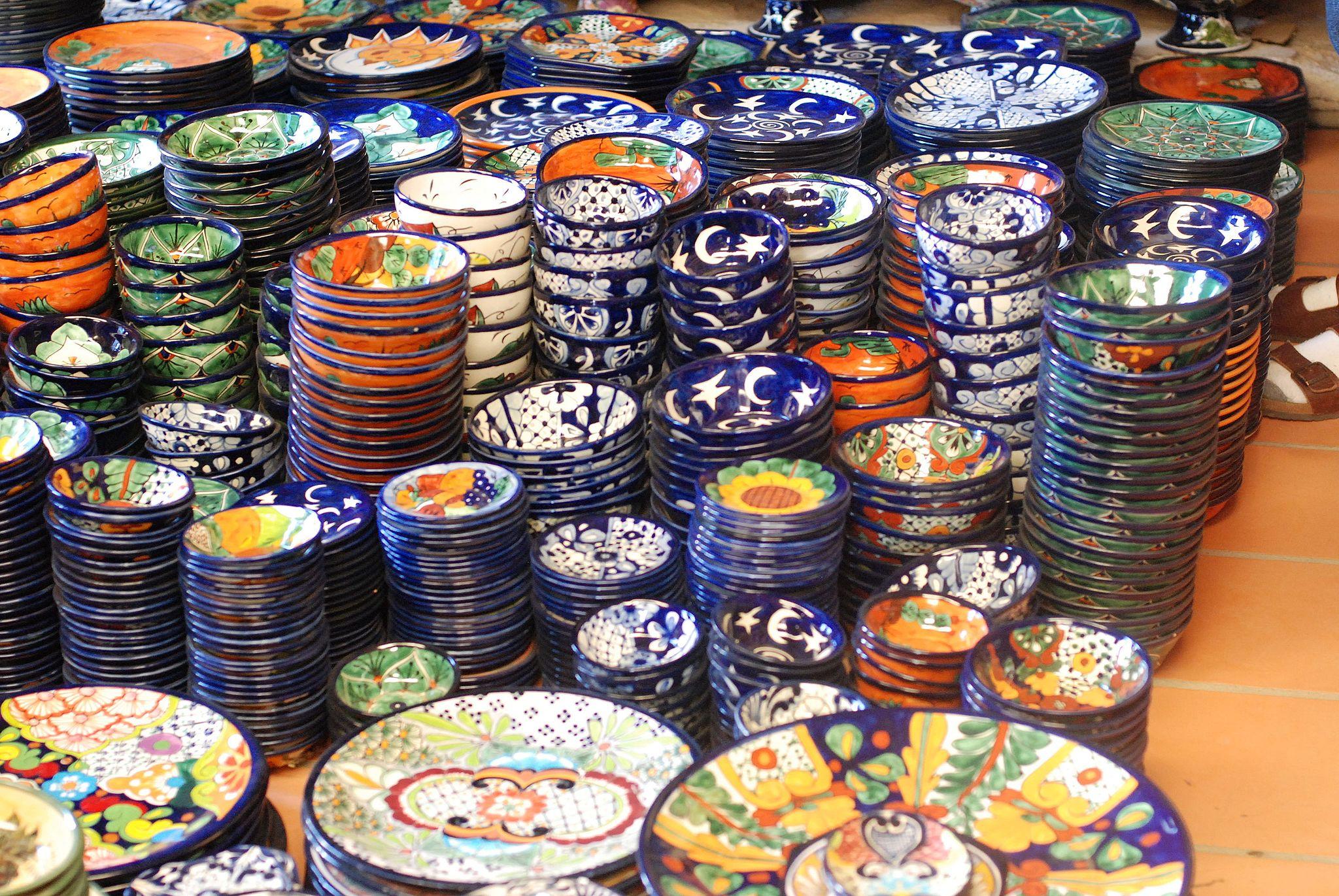 North Craft Folk Art Dishes