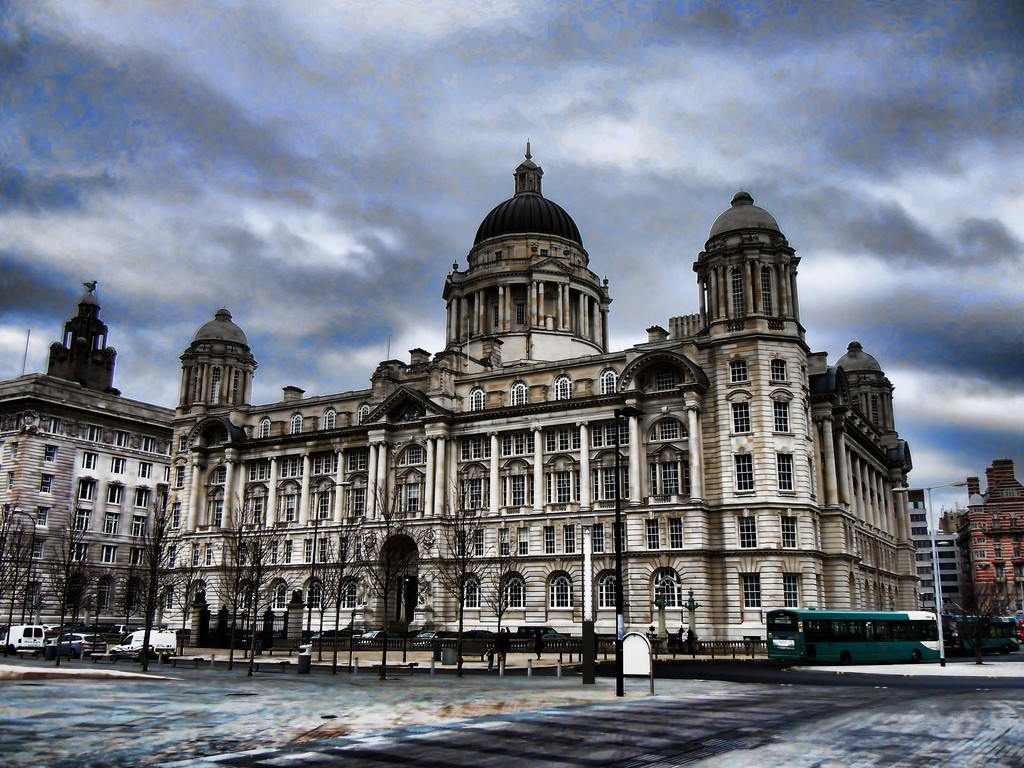 Dramatic looking Port of Liverpool Building