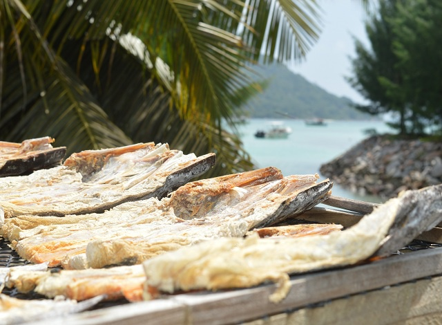 Fish salted and drying in the Seychelles Sun. A delicacy in Seychelles | ©seychelles news agency